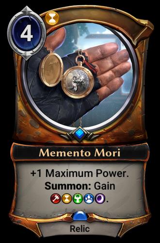 Memento Mori card