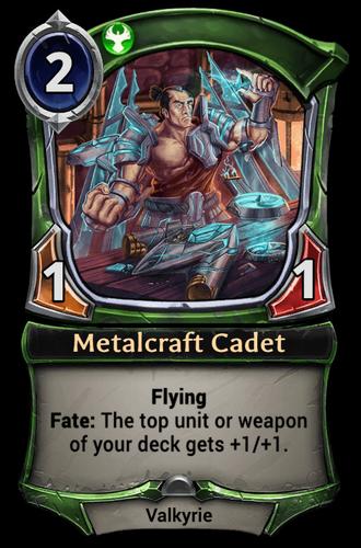 Metalcraft Cadet card