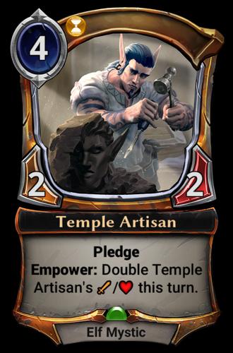 Temple Artisan card