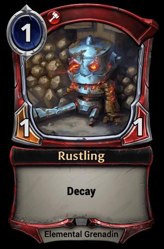 Rustling card
