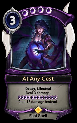 At Any Cost card