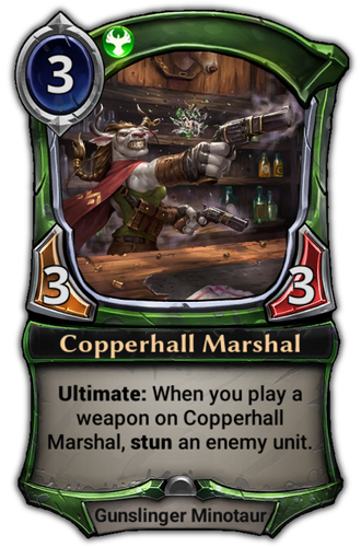 Copperhall Marshal card