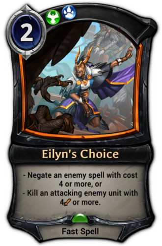 Eilyn's Choice card