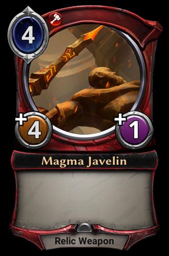 Magma Javelin card