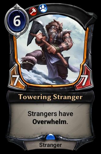 Towering Stranger card