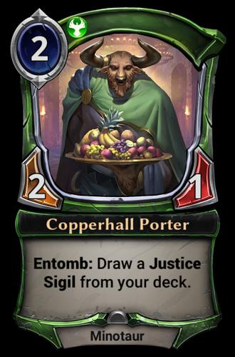 Copperhall Porter card