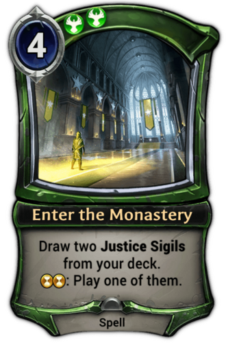 Enter the Monastery card