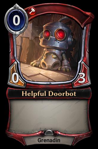 Helpful Doorbot card