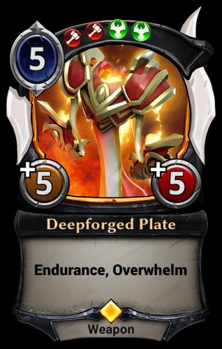 Deepforged Plate card