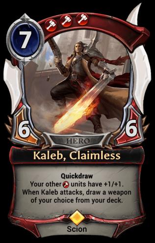 Kaleb, Claimless card