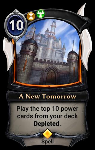 A New Tomorrow card