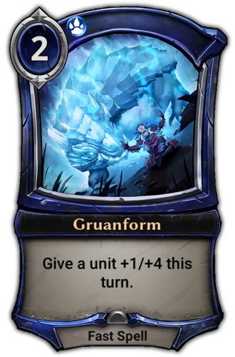 Gruanform card