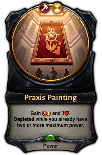 Praxis Painting card