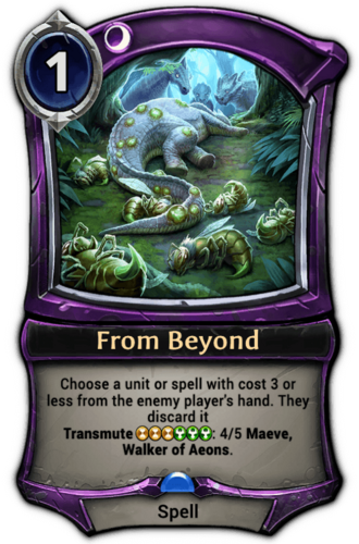 From Beyond card