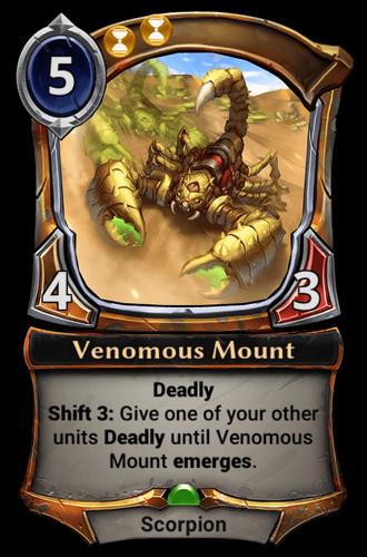 Venomous Mount card
