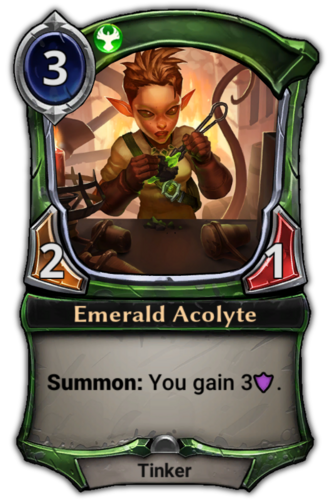 Emerald Acolyte card