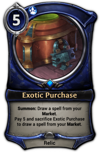 Exotic Purchase card