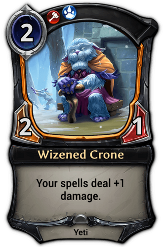 Wizened Crone card