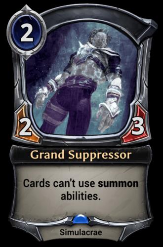 Grand Suppressor card