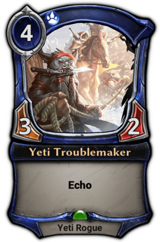 Yeti Troublemaker card