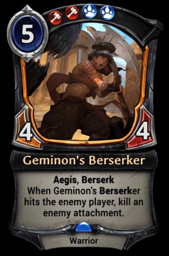 Geminon's Berserker card