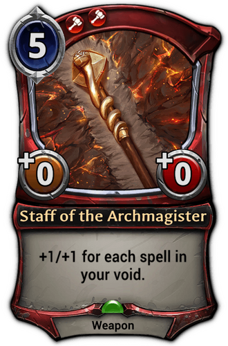 Staff of the Archmagister card