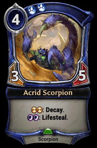 Acrid Scorpion card