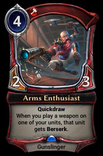 Arms Enthusiast card