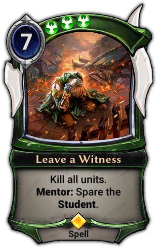 Leave a Witness card