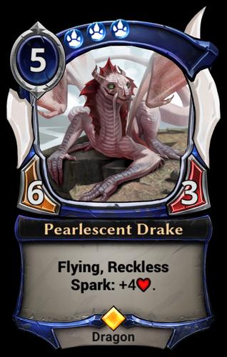 Pearlescent Drake card