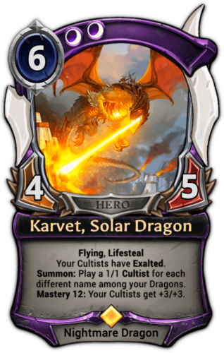 Karvet, Solar Dragon card