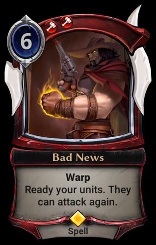 Bad News card