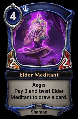 Elder Meditant card