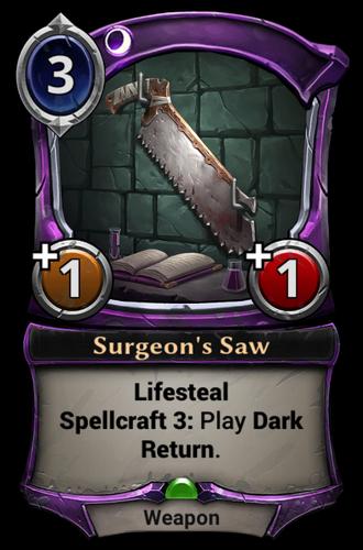 Surgeon's Saw card