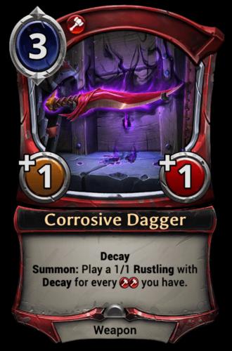 Corrosive Dagger card