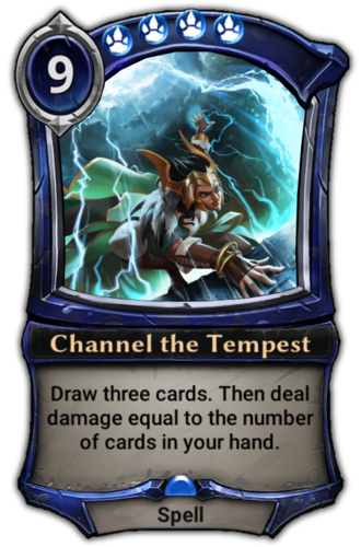 Channel the Tempest card