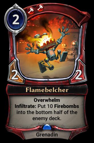 Flamebelcher card