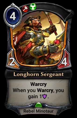 Longhorn Sergeant card