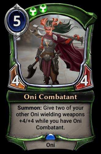 Oni Combatant card