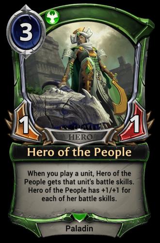 Alternate-art Hero of the People card