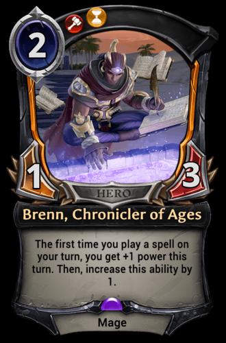 Brenn, Chronicler of Ages card