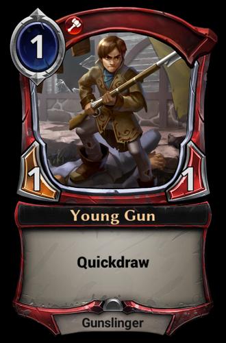 Young Gun card