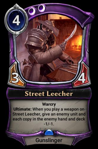 Street Leecher card