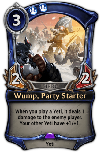 Wump, Party Starter card