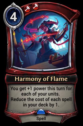 Harmony of Flame card