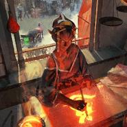 Full Art - Jishu, the Burning Brush