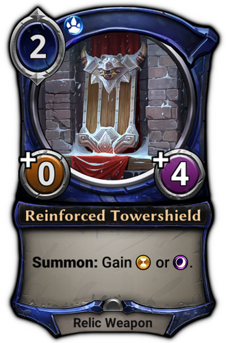 Reinforced Tower Shield card