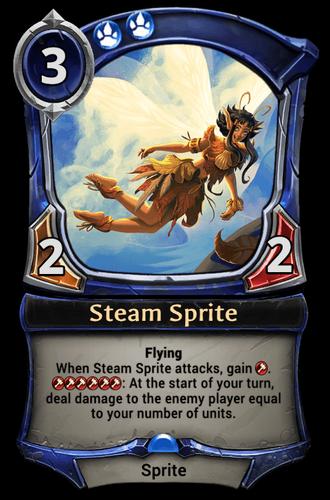 Steam Sprite card