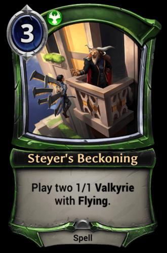 Steyer's Beckoning card
