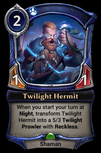 Twilight Hermit card